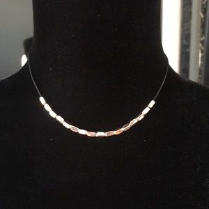 Rose gold choker necklace
